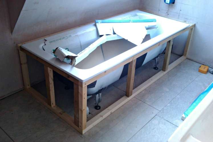 Panel Make Accessible Wooden Bath Either Plain Tongue