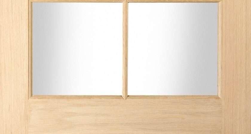 Panel Oak Veneer Glazed External Front Back Door