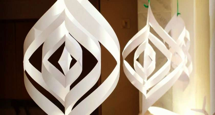 Paper Christmas Decorations Make Home