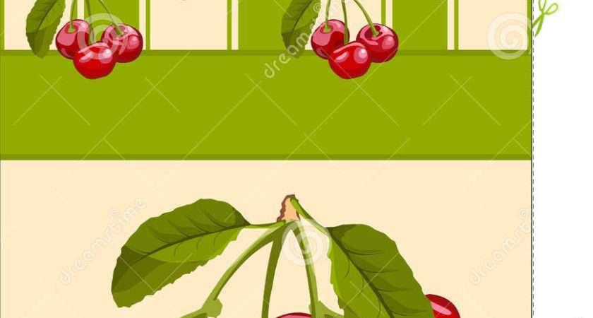 Papier Peint Cerise Illustration Vecteur