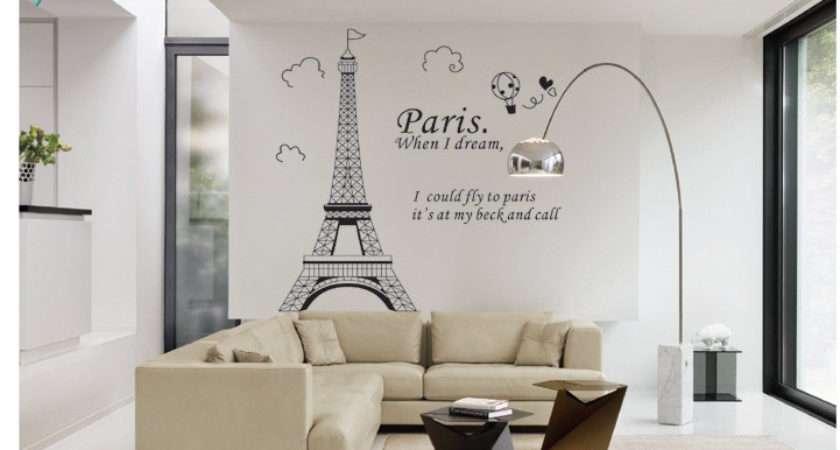 Paris Eiffel Tower Bathroom Home Decor Wall Decals Bedroom