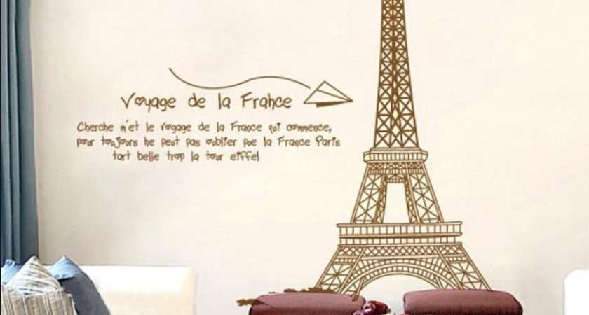 Paris Eiffel Tower Home Decoration Large Wall Decals Quotes Diy