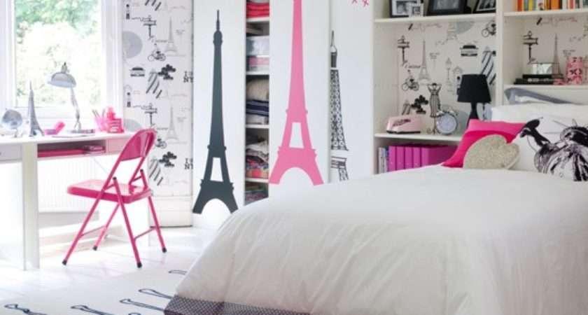Paris Theme Girl Bedroom Teenage Girls Ideas