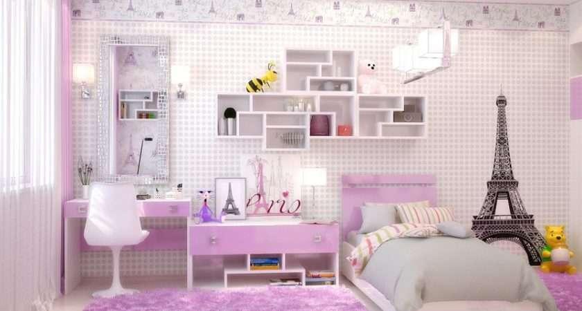 Paris Themed Teenage Girl Bedroom Ideas Cool Interior