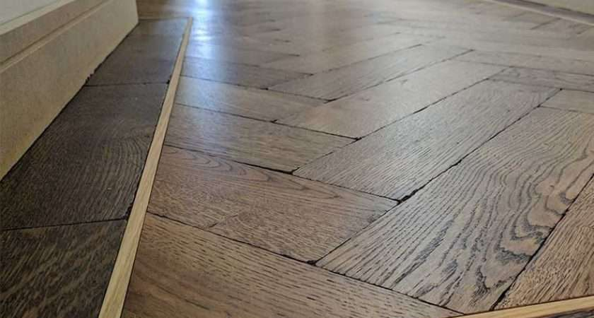 Parquet Herringbone Wood Flooring Border