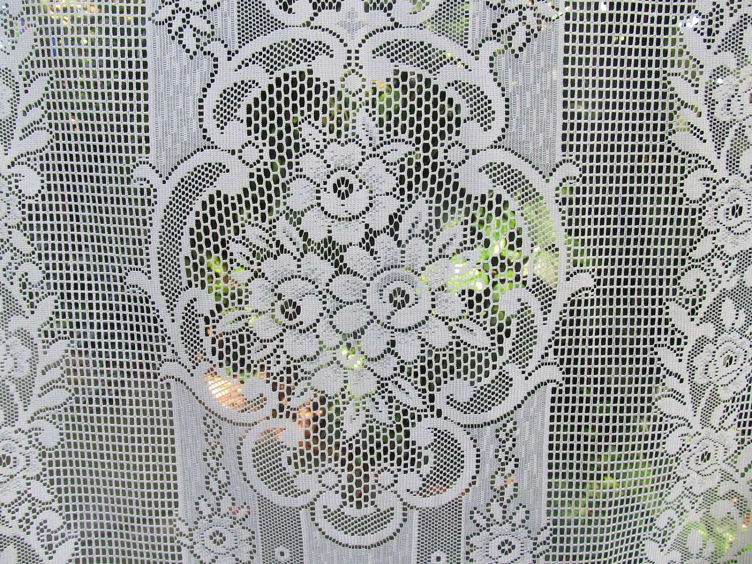 Pastel Lemon French Door Curtains Lace Linenandletters