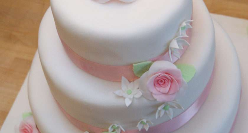 Pastel Pink Green Rose Wedding Cake Cakecentral