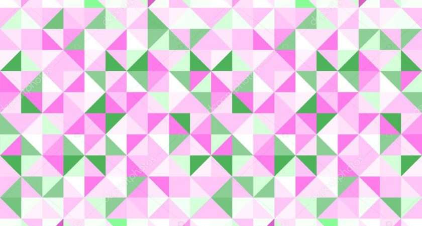 Pastel Pink Green White Abstract Geometric Seamless