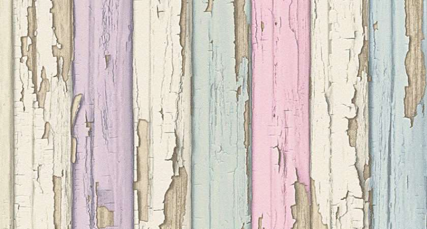 Pastel Purple Pink Green Blue Timber Wood Look