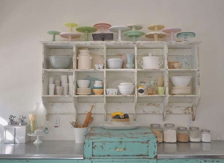 Pastel Vintage Kitchen Cubbies House Decorating Pinterest