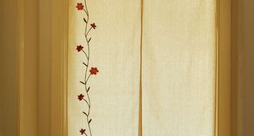 Pastoral Style Cotton Linen Handmade Emroidered Door