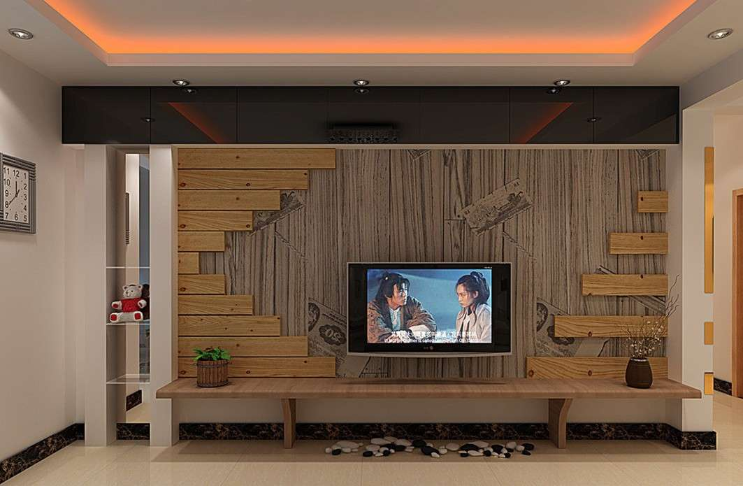 Pastoral Style Living Room Wooden Wall House