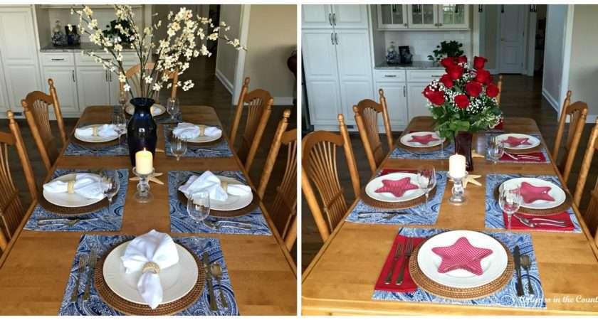Patriotic Table Setting Kitchen Calypso