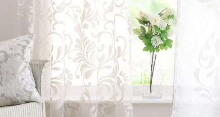Patterned Voile Made Measure Curtains