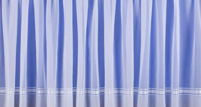 Paula White Border Print Voile Curtains