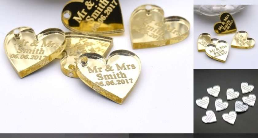 Pcs Personalized Engraved Centerpieces Love Heart Table