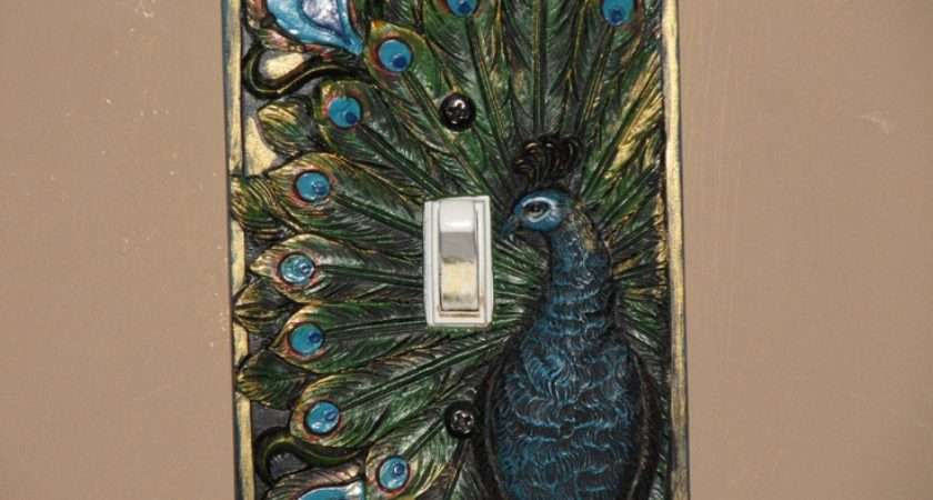 Peacock Switchplate Our Master Bedroom Theme Pinterest