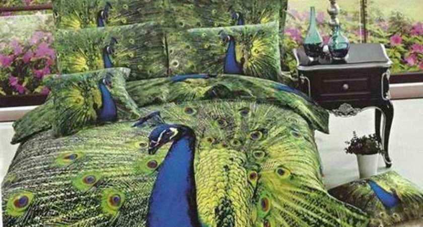 Peacock Themed Bedroom Color Bedding Basement Window