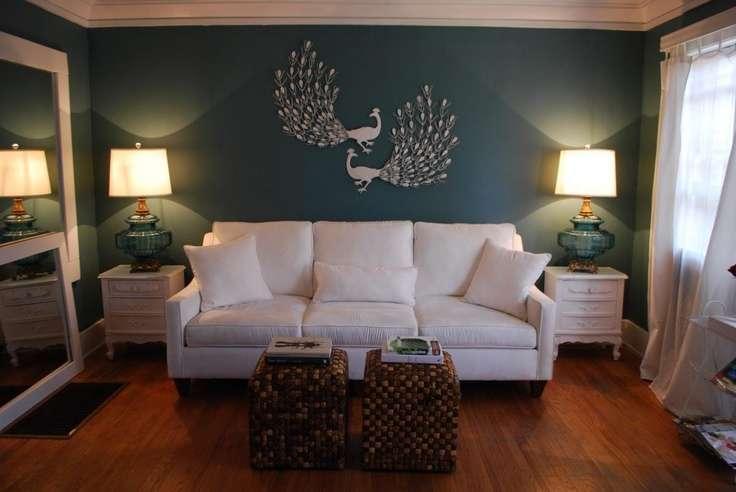 Peacock Wall Art Living Room Livingroom Furniture Decore