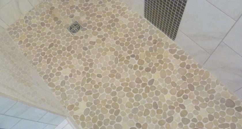 Pebble Floor Bathroom Contemporary