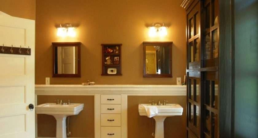 Pedestal Sinks Small Bathrooms Lighting Two