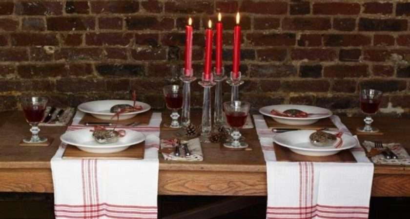 Peering Through Windows Elegant Christmas Table Setting