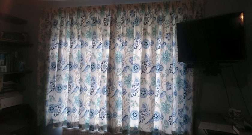 Pencil Pleat Curtains Sateen Lined Love Birds
