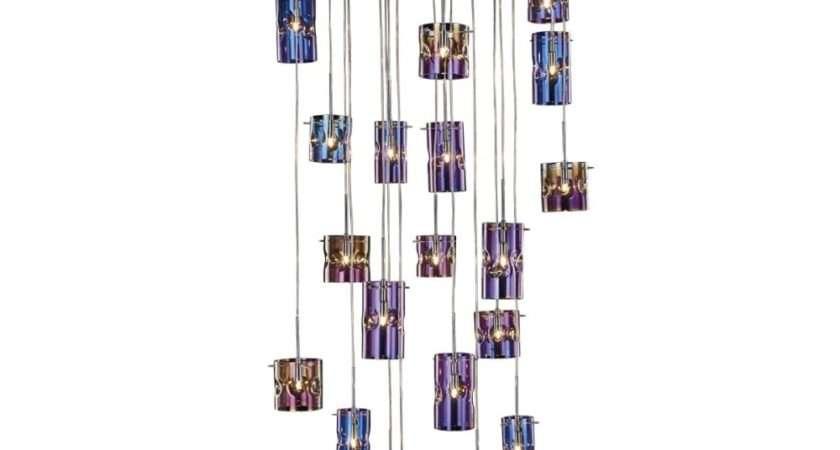 Pendant Cluster Translucent Coloured Glass