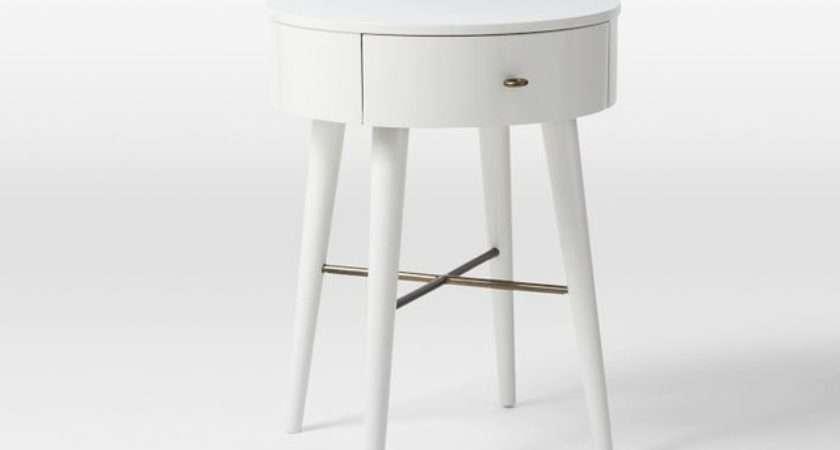 Penelope Nightstand White Small Contemporary