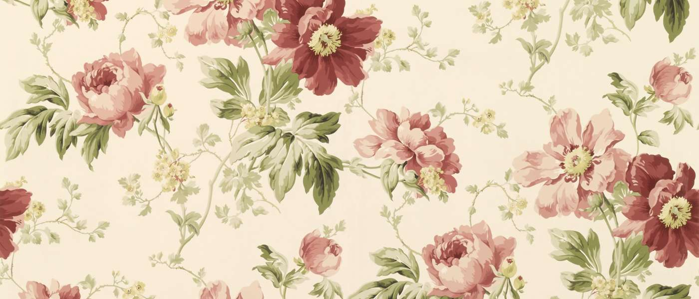 Peony Garden Cranberry Laura Ashley