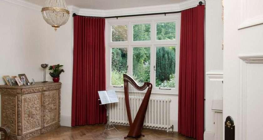Perfect Curtain Rods Bay Windows Homesfeed
