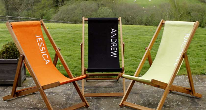 Personalised Deck Chair Glamping Collective