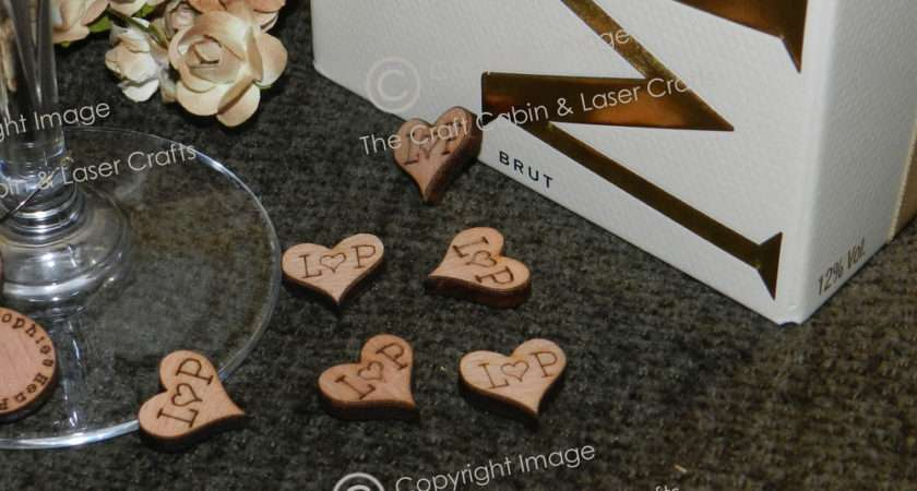 Personalised Mini Wood Hearts Confetti Table Decorations