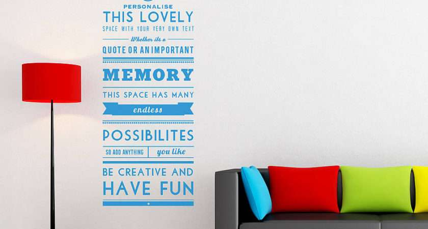 Personalised Quote Wall Sticker Contemporary Stickers