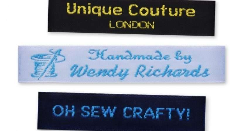 Personalised Woven Labels Sew Handmade Items