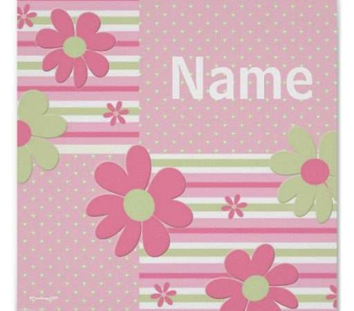 Personalized Flower Poster Girls Room Zazzle