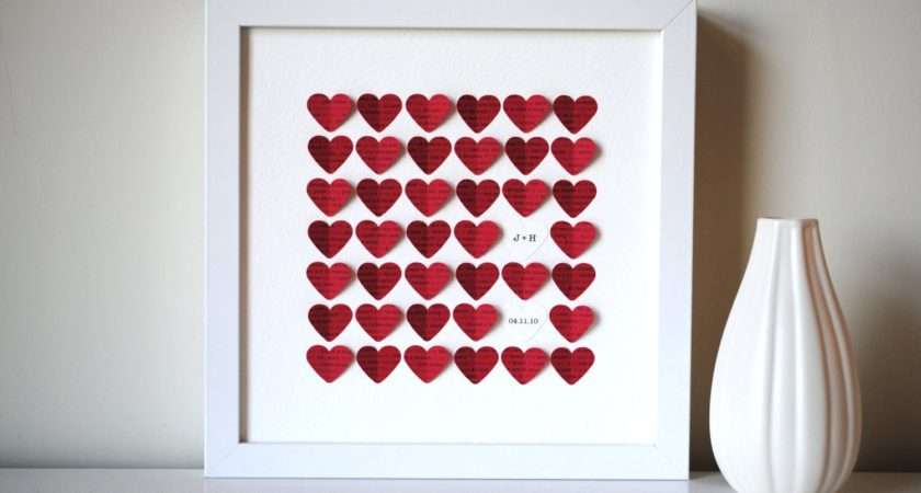 Personalized Valentine Day Gift Song Hearts