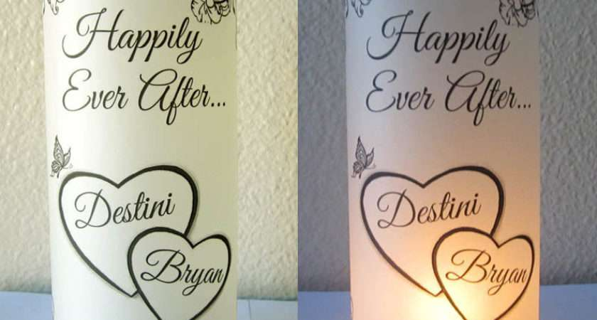 Personalized Wedding Centerpiece Luminaries Heart Table