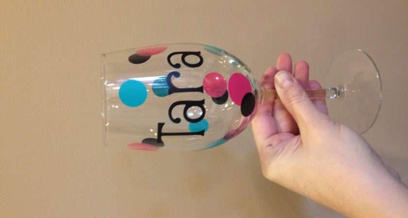 Personalized Wine Glass Craft Ideas Pinterest