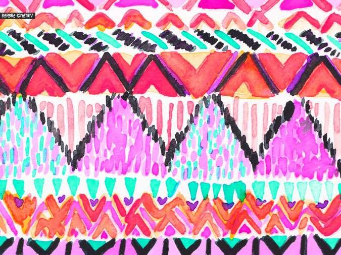 Photos Aztec Print Blue Pink Zebra Cake Pops