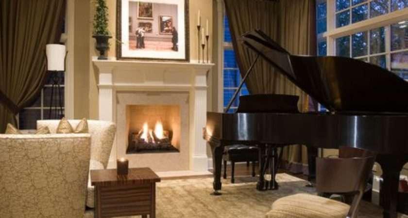 Piano Living Room Houzz