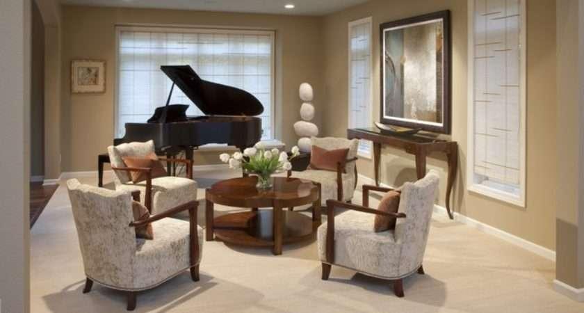 Piano Room Contemporary Living Milwaukee