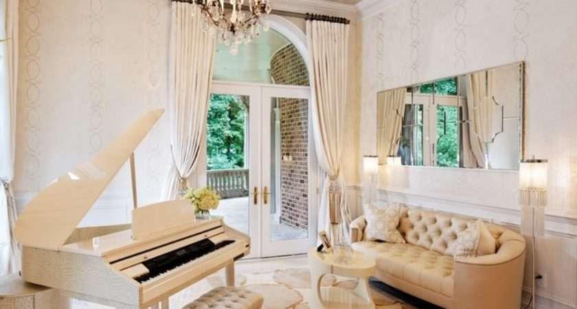 Piano Room Traditional Living Metro