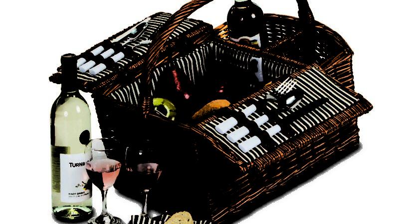Picnic Plus Largo Person Wicker Basket