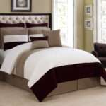 Piece Cal King Dakota Plum Taupe Ivory Comforter Set