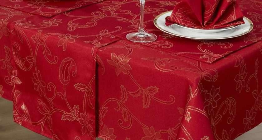 Piece Christmas Table Linen Set Xmas Cloth Seats