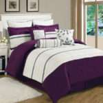 Piece King Westport Plum Ivory Comforter Set