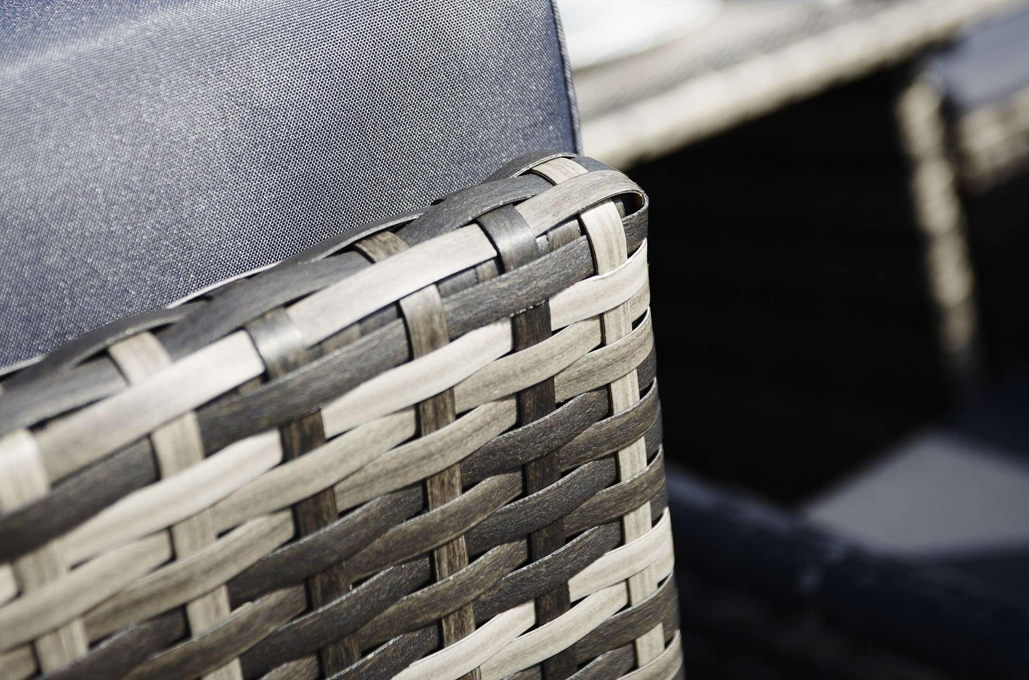 Piece Rectangle Rattan Cube Set Footstools Flip Back Seats