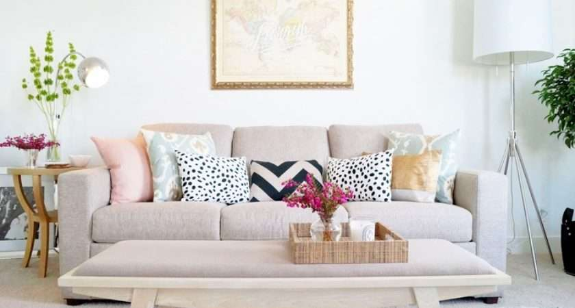 Pillows Give Little Pop Style Your Living Room Via Grey