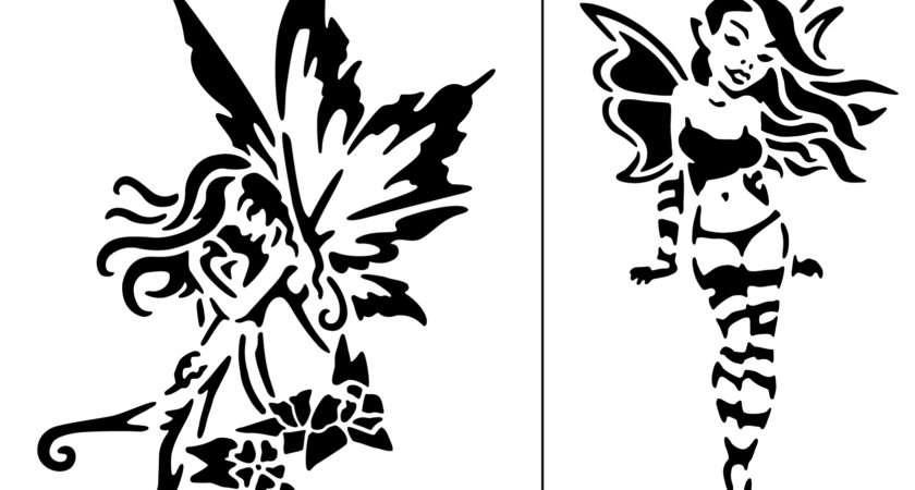 Pin Stencil Fairy Pinterest